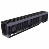 Лоток водоотводный пластиковый ЛВП Profi DN100 комплект, общий вид
