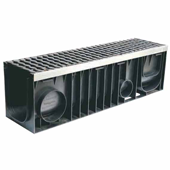 Лоток водоотводный пластиковый ЛВП Profi DN200 комплект, общий вид