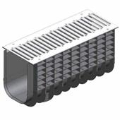 Лоток водоотводный пластиковый ЛВП Profi DN300 PARK комплект, общий вид