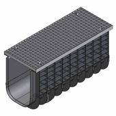 Лоток водоотводный пластиковый ЛВП Profi DN300 A15 комплект, общий вид