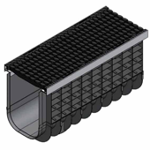 Лоток водоотводный пластиковый ЛВП Profi DN300 C250 комплект, общий вид
