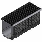Лоток водоотводный пластиковый ЛВП Profi DN300 E600 комплект, общий вид
