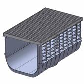 Лоток водоотводный пластиковый ЛВП Profi DN500 A15 комплект, общий вид