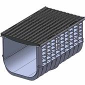 Лоток водоотводный пластиковый ЛВП Profi DN500 C250 комплект, общий вид